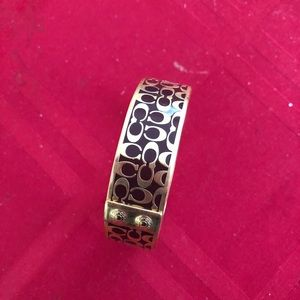 Coach gold bangle